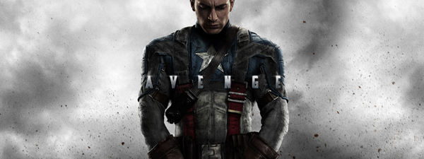 Captain America beats his foes red, white and blue